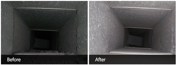 Air Vent Cleaning Before & After Third