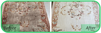 Oriental Rrug Cleaning Before & After