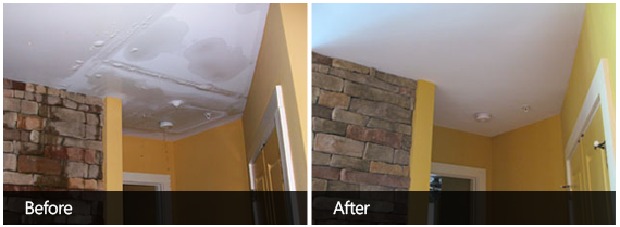 Water Damage Cleaning Before & After First
